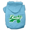 Mirage Pet Products Lucky Swoosh Screen Print Pet Hoodies Baby Blue Size Med (12)
