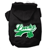 Mirage Pet Products Lucky Swoosh Screen Print Pet Hoodies Black Size XXL (18)