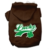 Mirage Pet Products Lucky Swoosh Screen Print Pet Hoodies Brown Size XS (8)