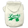 Mirage Pet Products Lucky Swoosh Screen Print Pet Hoodies Cream Size Lg (14)