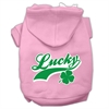 Mirage Pet Products Lucky Swoosh Screen Print Pet Hoodies Light Pink Size Lg (14)