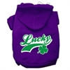 Mirage Pet Products Lucky Swoosh Screen Print Pet Hoodies Purple Size Med (12)