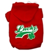 Mirage Pet Products Lucky Swoosh Screen Print Pet Hoodies Red Size Med (12)