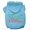 Mirage Pet Products Merry Christmas Screen Print Pet Hoodies Baby Blue Size Sm (10)
