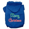 Mirage Pet Products Merry Christmas Screen Print Pet Hoodies Blue Size XS (8)