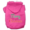 Mirage Pet Products Merry Christmas Screen Print Pet Hoodies Bright Pink Size XS (8)