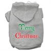 Mirage Pet Products Merry Christmas Screen Print Pet Hoodies Grey Size XXXL (20)