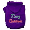 Mirage Pet Products Merry Christmas Screen Print Pet Hoodies Purple Size Sm (10)