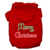 Mirage Pet Products Merry Christmas Screen Print Pet Hoodies Red Size Lg (14)