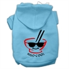 Mirage Pet Products Miso Cool Screen Print Pet Hoodies Baby Blue Size XXL (18)
