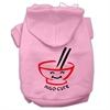 Mirage Pet Products Miso Cute Screen Print Pet Hoodies Pink Size XL (16)