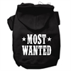 Mirage Pet Products Most Wanted Screen Print Pet Hoodies Black Size XL (16)