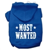 Mirage Pet Products Most Wanted Screen Print Pet Hoodies Blue Size Lg (14)