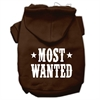Mirage Pet Products Most Wanted Screen Print Pet Hoodies Brown Size Med (12)