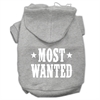 Mirage Pet Products Most Wanted Screen Print Pet Hoodies Grey Size XL (16)
