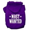 Mirage Pet Products Most Wanted Screen Print Pet Hoodies Purple Size Sm (10)