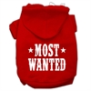 Mirage Pet Products Most Wanted Screen Print Pet Hoodies Red Size XXL (18)