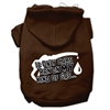 Mirage Pet Products My Kind of Gas Screen Print Pet Hoodies Brown M (12)