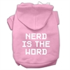 Mirage Pet Products Nerd is the Word Screen Print Pet Hoodies Light Pink Size XL (16)