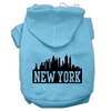Mirage Pet Products New York Skyline Screen Print Pet Hoodies Baby Blue Size XS (8)