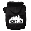 Mirage Pet Products New York Skyline Screen Print Pet Hoodies Black Size XXL (18)
