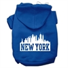 Mirage Pet Products New York Skyline Screen Print Pet Hoodies Blue Size XS (8)