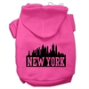 Mirage Pet Products New York Skyline Screen Print Pet Hoodies Bright Pink Size XS (8)