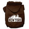 Mirage Pet Products New York Skyline Screen Print Pet Hoodies Brown Size Sm (10)