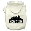 Mirage Pet Products New York Skyline Screen Print Pet Hoodies Cream Size Sm (10)