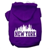 Mirage Pet Products New York Skyline Screen Print Pet Hoodies Purple Size Lg (14)