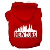 Mirage Pet Products New York Skyline Screen Print Pet Hoodies Red Size Sm (10)