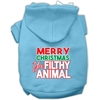Mirage Pet Products Ya Filthy Animal Screen Print Pet Hoodie Baby Blue XXL (18)