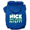 Mirage Pet Products Nice until proven Naughty Screen Print Pet Hoodie Blue Sm (10)