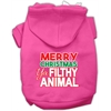 Mirage Pet Products Ya Filthy Animal Screen Print Pet Hoodie Bright Pink Med (12)