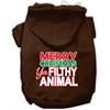 Mirage Pet Products Ya Filthy Animal Screen Print Pet Hoodie Brown Lg (14)