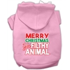 Mirage Pet Products Ya Filthy Animal Screen Print Pet Hoodie Light Pink Sm (10)