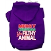 Mirage Pet Products Ya Filthy Animal Screen Print Pet Hoodie Purple XXL (18)