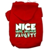 Mirage Pet Products Nice until proven Naughty Screen Print Pet Hoodie Red XXL (18)