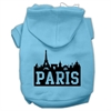 Mirage Pet Products Paris Skyline Screen Print Pet Hoodies Baby Blue Size XS (8)