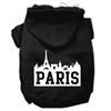 Mirage Pet Products Paris Skyline Screen Print Pet Hoodies Black Size Sm (10)