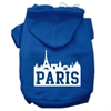 Mirage Pet Products Paris Skyline Screen Print Pet Hoodies Blue Size Sm (10)