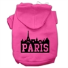 Mirage Pet Products Paris Skyline Screen Print Pet Hoodies Bright Pink Size Sm (10)