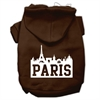 Mirage Pet Products Paris Skyline Screen Print Pet Hoodies Brown Size Sm (10)