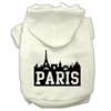 Mirage Pet Products Paris Skyline Screen Print Pet Hoodies Cream Size XS (8)