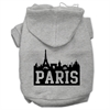 Mirage Pet Products Paris Skyline Screen Print Pet Hoodies Grey Size XL (16)