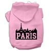 Mirage Pet Products Paris Skyline Screen Print Pet Hoodies Light Pink Size Lg (14)