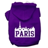 Mirage Pet Products Paris Skyline Screen Print Pet Hoodies Purple Size Sm (10)
