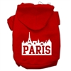 Mirage Pet Products Paris Skyline Screen Print Pet Hoodies Red Size Med (12)