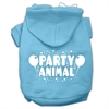 Mirage Pet Products Party Animal Screen Print Pet Hoodies Baby Blue Size Sm (10)
