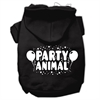 Mirage Pet Products Party Animal Screen Print Pet Hoodies Black Size XXL (18)